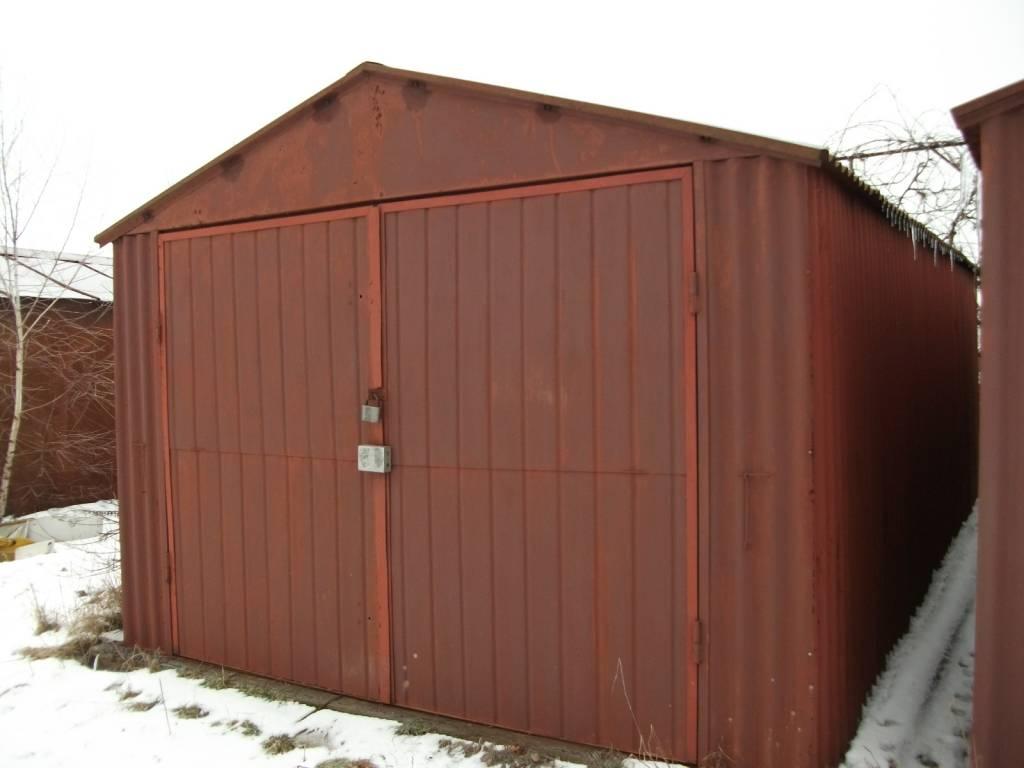 Розбірний металевий гараж (без місця).