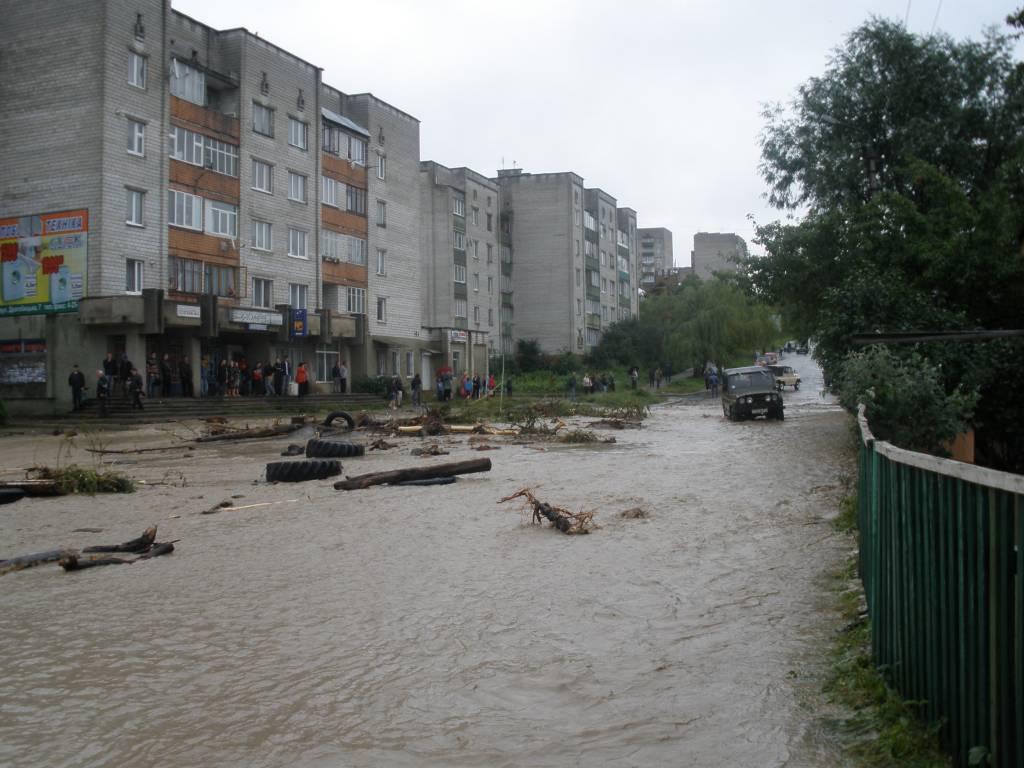 Повінь в бориславі 2008 року вигляд з