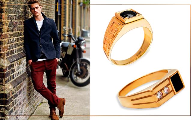 золотые кольца мужские